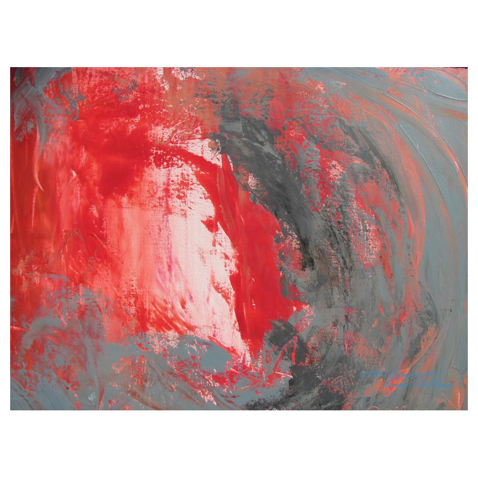Jesus is my Kinsman Redeemer - Abstract by Diane McFerrin